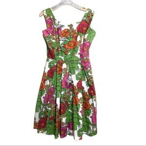 Vintage gallant California floral print dress